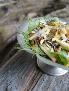 Turnip Greens, Fennel, & Sweetgrass Salad