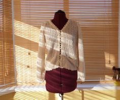 Items similar to / Irish Linen Great Gatsby cream top blouse / M ladies on Etsy Cream Tops, Gatsby, 1970s, Irish, Trending Outfits, Blouse, Unique Jewelry, Clothes, Vintage