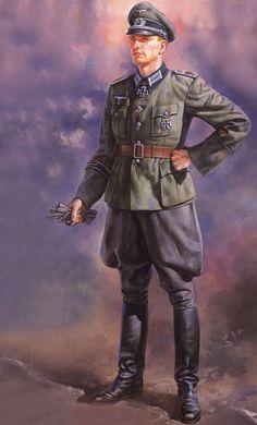 German Wehrmacht officers' M36 summer service uniform