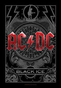 AC/DC Poster Flag Black Ice Logo Tapestry