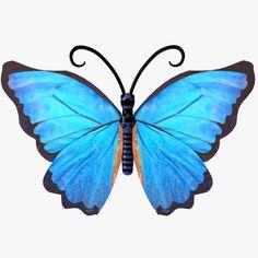 3D Butterfly Blue Fly - 3D Model
