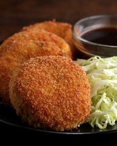 Japanese-Style Ham and Cheese Croquettes (Korokke) Pork Recipes, Asian Recipes, Cooking Recipes, Dutch Recipes, Vegetarian Recipes, Japanese Cheese, Tomato Cream Sauces, Tasty, Gastronomia