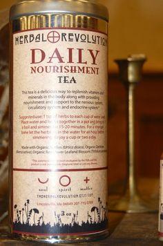 Daily Nourishment Organic Herbal Tea Lg Tin by TheHerbalRevolution, $14.00