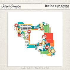 Quality DigiScrap Freebies: Let The Sun Shine template freebie from Two Tiny Turtles