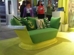 What a way to use a tub! Kohler cast iron bath couches at ICFF 2012