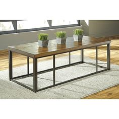 Signature Design by Ashley Branslien Coffee Table & Reviews$189 coffee tbl & $162 side tbl | Wayfair