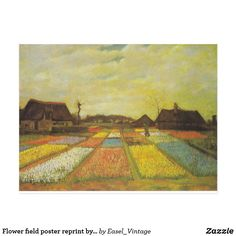 Great Big Canvas 'Flower Beds in Holland, by Vincent Van Gogh Painting Print Format: White Frame, Size: H x W x D Vincent Van Gogh, Arte Van Gogh, Van Gogh Art, Framed Art Prints, Painting Prints, Canvas Prints, Van Gogh Prints, Van Gogh Pinturas, Van Gogh Paintings