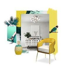 Home Decor Inspiration: 8 Mood Boards to Share w/ Your Decorator – Inspirations Living Room Inspiration, Home Decor Inspiration, Mid-century Interior, Interior Design, Interior Styling, Palm Springs Houses, Dyi, Pop Art Decor, Plans Architecture