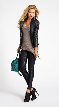 Open-Stitch Sweater Tank at Guess Classy Outfits, Chic Outfits, Fall Outfits, Fashion Outfits, Fashion Mode, 80s Fashion, Womens Fashion, Boho Fashion, Fashion Online