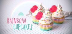 pokkuru - doceria de bijoux Cup Cakes, Cupcake Cakes, Rainbow Cupcakes, Bubble Gum, Ideas Para, Spoon, Craft Ideas, Diy Crafts, Sugar