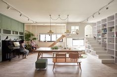 taiwanese office HAO design studio has completed the interior renovation of a apartment in kaohsiung city. Decoracion Vintage Chic, Family Room, Home And Family, House Design Photos, Interior Decorating, Interior Design, Apartment Interior, Home And Living, Living Room