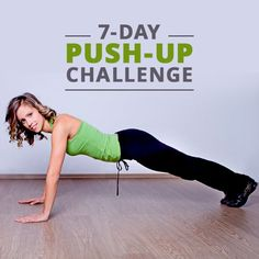 Before you say, No way can I do a push-up, let alone a push-up challenge, think again!  #pushupchallenge #fitnesschallenge