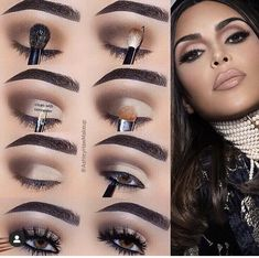 Easy Makeup Tips to Make You Look Gorgeous! Here are some easy tricks and makeup tips you would have liked to know earlier! Eye Makeup Steps, Eyebrow Makeup, Eyeshadow Makeup, Makeup Tips, Dior Makeup, Makeup Geek, Makeup Ideas, Hooded Eye Makeup Tutorial, Makeup Pictorial