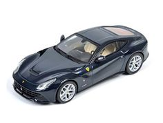 Ferrari F12berlinetta Diecast Model Car by Mattel X5501 This Ferrari F12berlinetta Diecast Model Car is Midnight Blue and features working wheels. It is made by Mattel and is 1:43 scale (approx. 10cm / 3.9in long).