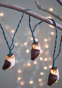 Owl Illuminate the Way Lights, #ModCloth  Love these!
