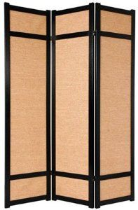 """Oriental Furniture Inexpensive Office Partition, 6-Feet Jute Japanese Shoji Privacy Floor Screen Room Divider, 4 Panel Black by ORIENTAL FURNITURE. $201.94. Tough, durable tightly woven jute fiber shade block light completely, two way hinges. 71"""" t by 17"""" w panels, premium kiln dried spruce, double reinforced panel frames. 3, 4, 5 or 6 panels, black, honey, natural or rosewood. Browse our huge selection of japanese, chinese, asian décor, room dividers, art, lamps and gift..."""