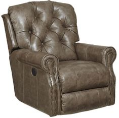 Lowest price online on all Catnapper Davidson Leather Rocker Recliner in Smoke - 46042127428307428 Wolf Furniture, Leather Recliner, Home Furnishings, Recliners, Living Room, Chair, Smoke, Home Decor, Power Recliners