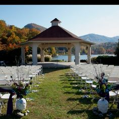 Mountain view ceremony  B & R Events Greenville, SC wedding planner