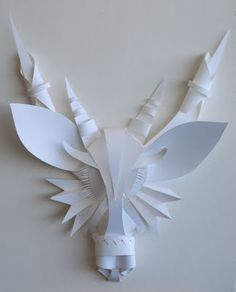paper sculpture- can use leftover paper scraps from previous projects.