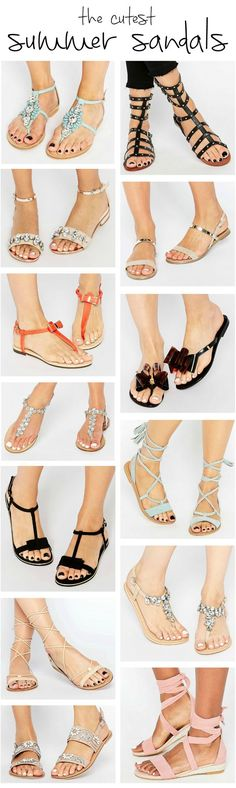 Summer sandal season is here, and we've rounded up the most stylish sandals on the block. There's a pair for every style preference and budget, so click through to this pin to find your new favorite pair of sandals! Whether you're a fan of jeweled sandals, gladiator sandals, simply chic sandals, bow sandals, lace-up sandals, or classic sandals, we've found a cute pair of sandals that you'll love! | Click through to read the full post by Ashley Brooke @ashleynicholas