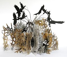 mothtales:    Stunning 'Altered Book' by Sarah Morpeth