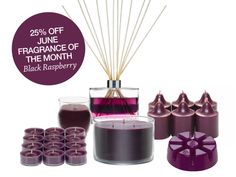 Black Raspberry is the Fragrance of the month [my favorite!] Not to mention it's 25% off all June #PartyLite