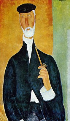 Amedeo Modigliani    Man with Pipe    1918