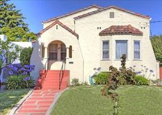 Welcome to 711 Pomona Avenue, a magnificent Mediterranean home in one of Albany? The inviting front porch sits above the… Spanish Style Homes, Spanish Revival, Spanish House, Spanish Colonial, Mediterranean Homes, Old House Dreams, My Dream Home, The Neighbourhood, Exterior