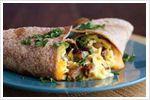 Healthier breakfast burrito
