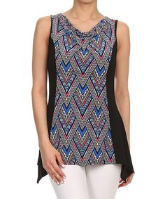 Look at this #zulilyfind! One Fashion Blue & Red Triangle Tank by One Fashion #zulilyfinds