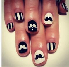 Moustaches nails