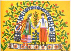 Let Us Go to the Betrothal Party - Maria Primachenko - Maria Primachenko - Naïve Art (Primitivism), 1968