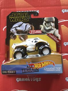 First Order Stormtrooper 2019 Hot Wheels Star Wars Rise of Skywalker All Terrain Character Cars Mix A - Grana Toys Android Wallpaper Cars, Hot Wheels, Nct, Free Printable Clip Art, Stormtrooper, How To Make Planner, Logo Design, Free Cars, First Order
