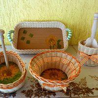 sada košíků SUNFLOWER (možno koupit i jednotlivé kusy) the set of baskets SUNFLOWER(possible to buy as individual pieces)