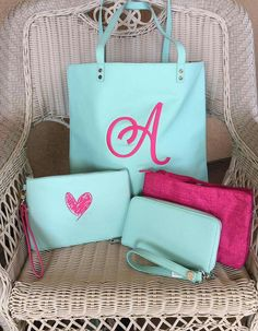 Gorgeous colors!! Skies for You with Hot Pink embroidery! Www.MommaNeedsaNewBag.com