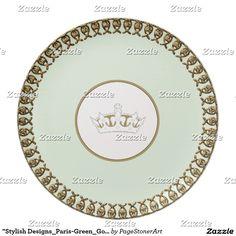 """Stylish Designs_Paris-Green_Gold_Crown"