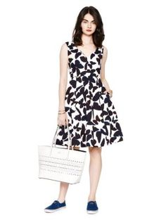 butterfly fit and flare dress - kate spade new york