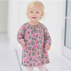 Printed Cotton Baby Dress by Dave Bella Kids Clothes Baby Girl Dresses, Baby Dress, Girl Outfits, Baby Girl Jumpsuit, Cute Little Girls, Baby Prints, Baby Wearing, Cotton Dresses, Printed Cotton