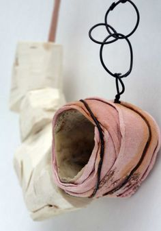 Konstfack (BA) Stockholm (SE) - Nadine Kuffner - necklace 2010, wood, paint, textile string 450 x 240 x 50 mm