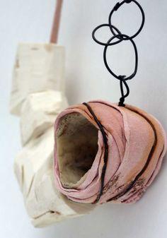 Konstfack (BA) Stockholm (SE) - Nadine Kuffner - necklace 2010, wood, paint, textile string 450 x 240 x 50 mm