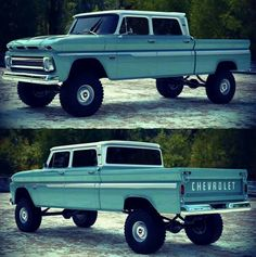 Chevy trucks aficionados are not just after the newer trucks built by Chevrolet. They are also into oldies but goodies trucks that have been magnificently preserved for long years. Custom Chevy Trucks, Classic Chevy Trucks, Gm Trucks, Chevrolet Trucks, Diesel Trucks, Lifted Trucks, Cool Trucks, Pickup Trucks, Jeep Pickup