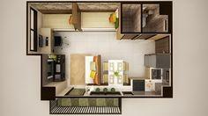 Mabolo Garden Flats offers loft and studio units. Studio Living, Small House Plans, Studio Apartment, Condominium, Kitchen Flooring, Small Apartments, Open Plan, Floor Plans, The Unit