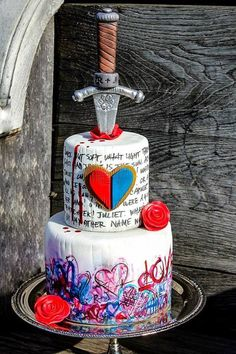Romeo and Juliet Love Cake | Man Bakes Cakes