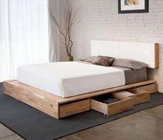 DIY Pallet Wood Bed Frame Ideas   Pallets Furniture Designs