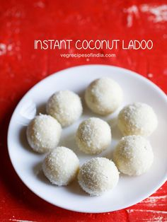 instant coconut ladoo recipe with video and step by step photos - 2 ingredient delicious ladoos that are pretty quick to make. the 2 main ingredients are sweetened condensed milk and desiccated coconut.    this coconut ladoo