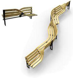 Twist bench by Kenan Wang