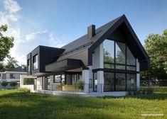 Small Modern Home, Modern Barn, Home Building Design, Building A House, Gable House, Modern Farmhouse Exterior, Facade House, Design Case, Home Fashion