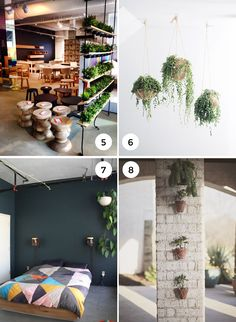 #5  - instead of a solid wall, a plant wall will keep the space open and lend to the feeling of largeness