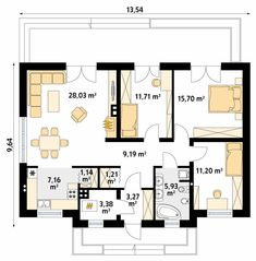 Dream House Plans, Small House Plans, Plans Architecture, Social Housing, Building Plans, Sweet Home, Floor Plans, House Design, How To Plan