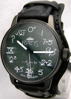Math Watch- for men who enjoy math and want a chuckle when they want to know the time. Unique! I really like this concept. The face is sweet. Would just change out that band. -M.M. #WatchesIlike